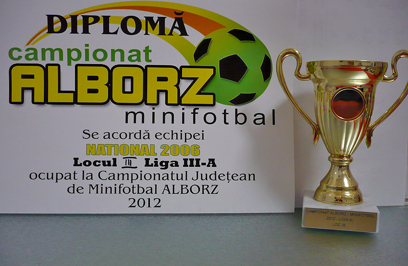 Diploma si Cupa Liga III-a loc III