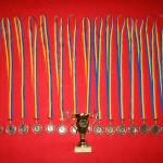 medalii si cupa pentru promovare
